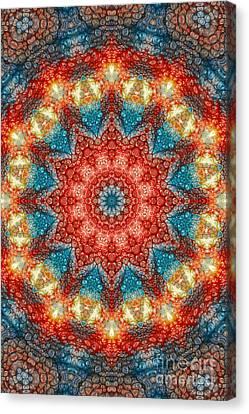 Mandala Abstract - Birth Of A Sun Canvas Print