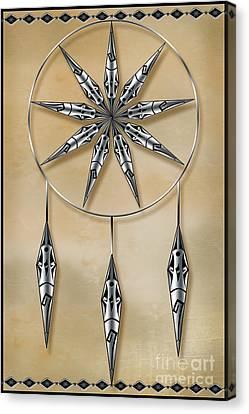 Mandala In Silver Canvas Print