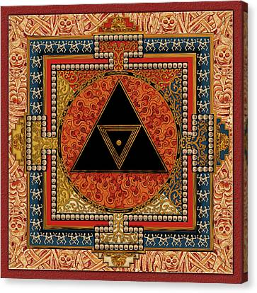 Tantra Canvas Print - Mandala Kalichakre For Her by Mark Myers