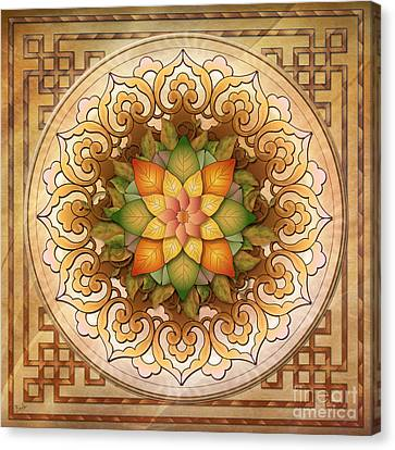 Mandala Leaf Rosette V1 Canvas Print