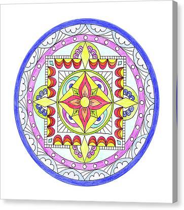 Mandala Canvas Print by Marilyn Hunt