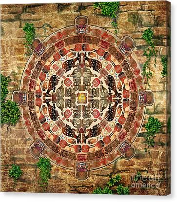 Mandala Maya Canvas Print by Bedros Awak
