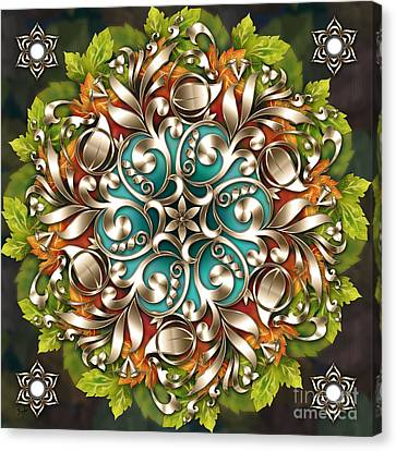 Mandala Metallic Ornament Canvas Print by Bedros Awak