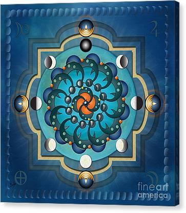 Mandala Moon Phases Canvas Print