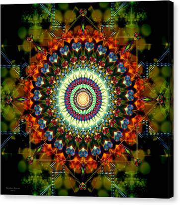 Mandala Of Loves Journey Canvas Print by Stephen Lucas