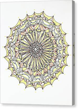 Moroccan Canvas Print - Mandala Pattern by Dan Comaniciu