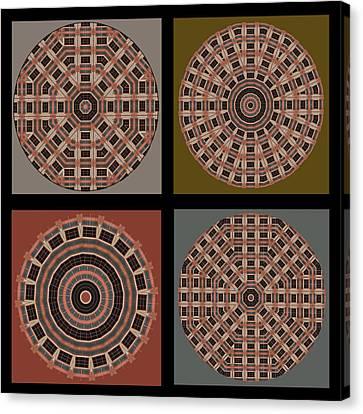 Mandala - Quadriptych Canvas Print by Nikolyn McDonald