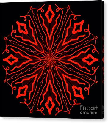 Mandala Red And Black, Fire Mandala Canvas Print by Pablo Franchi