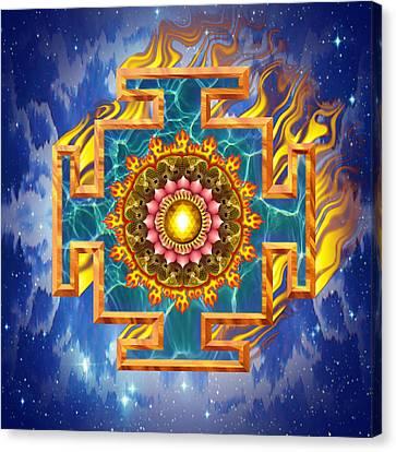 Mandala Shiva Canvas Print by Mark Myers