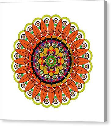 Mandala Sunflower Canvas Print by Isabel Salvador