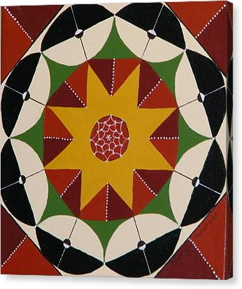 Mandala Canvas Print by Terry Honstead