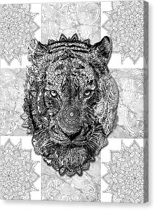 Tiger Canvas Print - Mandala Tiger 2 by Bekim Art