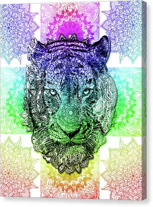 Tiger Canvas Print - Mandala Tiger 3 by Bekim Art