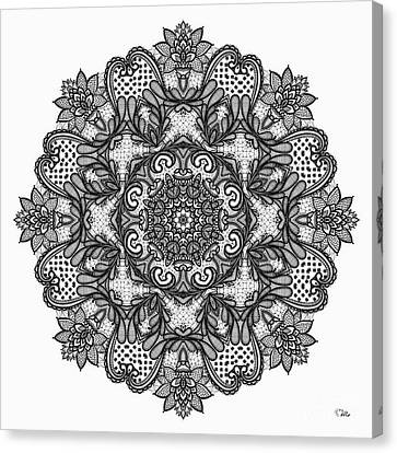 Canvas Print featuring the digital art Mandala To Color 2 by Mo T