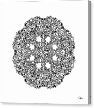 Canvas Print featuring the digital art Mandala To Color by Mo T
