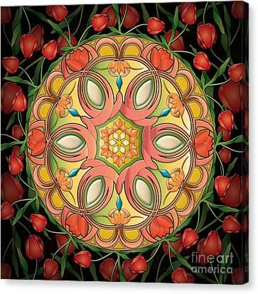 Mandala Tulipa Canvas Print by Bedros Awak