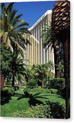 Canvas Print featuring the photograph Mandalay Bay Hotel by John Schneider
