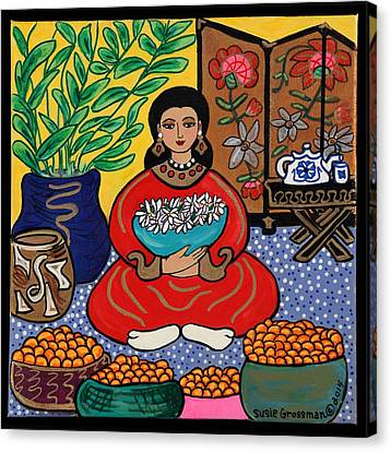 Mandarin Daze Canvas Print by Susie Grossman