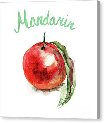 Tangerines Canvas Print - Mandarin Fruits by Regina Jershova