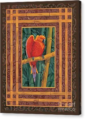Mandarin Lovebird Canvas Print