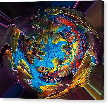 Mandarinfish Abyss Canvas Print by Sue Duda