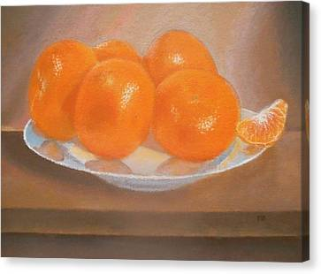 Mandarins On A Plate  Canvas Print