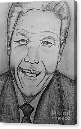 Mandela Art Canvas Print