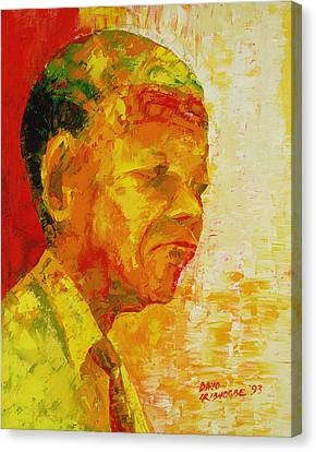 Mandela Canvas Print by Bayo Iribhogbe
