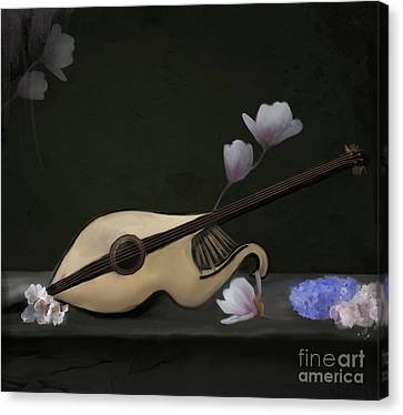 Mandolin Canvas Print by Ellerslie Art