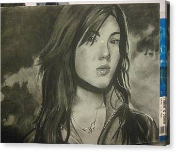 Mandy Moore Canvas Print by Lillian  Pecina
