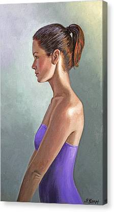 Mandy-profile Canvas Print by Paul Krapf