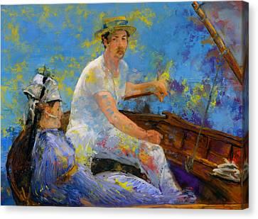 Gennevilliers Canvas Print - Manet Boating by Frank DaVinci