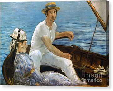 Manet: On A Boat, 1874 Canvas Print by Granger