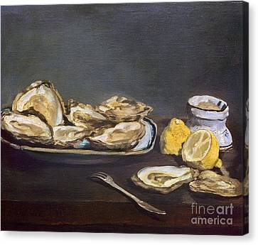 Manet: Oysters, 1862 Canvas Print by Granger