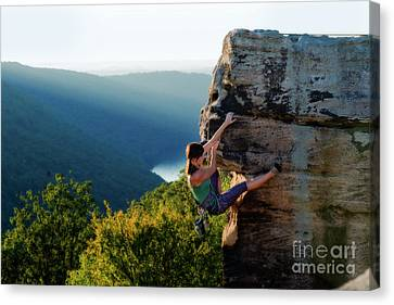 Maneuvering On The Rock Canvas Print by Dan Friend