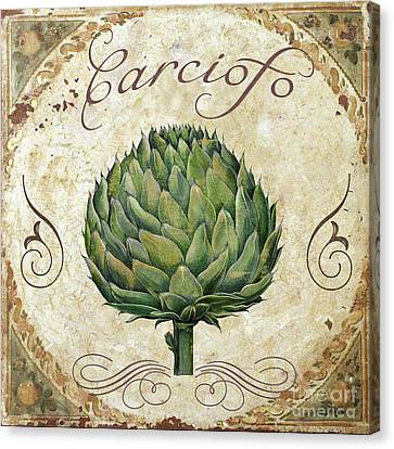Italian Kitchen Canvas Print - Mangia Artichoke by Mindy Sommers