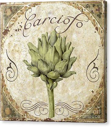 Mangia Carciofo Artichoke Canvas Print by Mindy Sommers