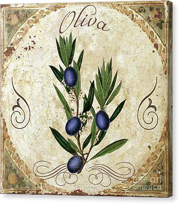 Italian Kitchen Canvas Print - Mangia Olives by Mindy Sommers