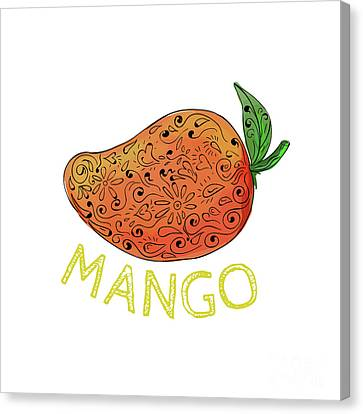 Mango Juicy Fruit Mandala  Canvas Print