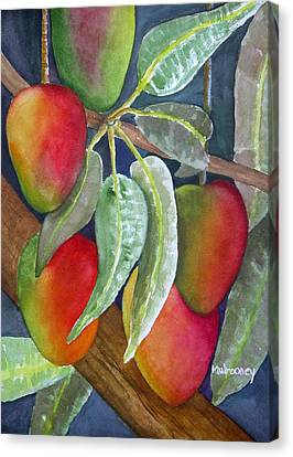 Mango One Canvas Print by Terry Arroyo Mulrooney