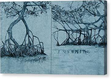 Mangroves Canvas Print by Leah  Tomaino