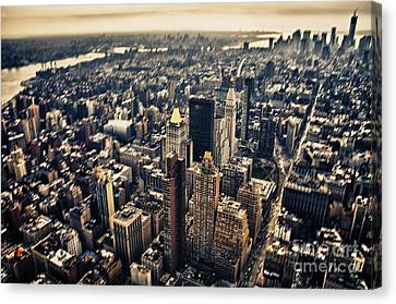 Manhattan Canvas Print by Alessandro Giorgi Art Photography