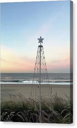 Manhattan Beach Christmas Star Canvas Print