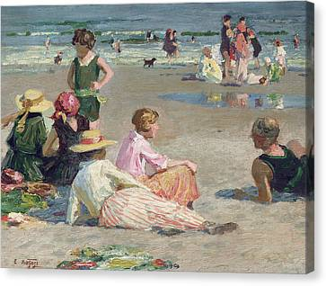 Manhattan Beach  Canvas Print by Edward Henry Potthast