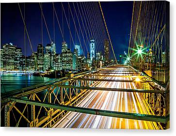 Manhattan Bound Canvas Print by Az Jackson