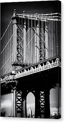 Manhattan Bridge Noir Canvas Print by Jessica Jenney