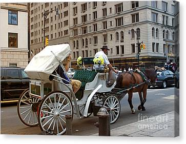 Manhattan Buggy Ride Canvas Print by Madeline Ellis