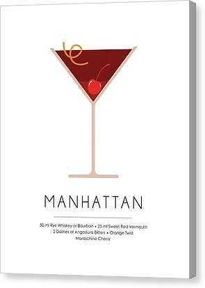Manhattan Classic Cocktail - Minimalist Print Canvas Print