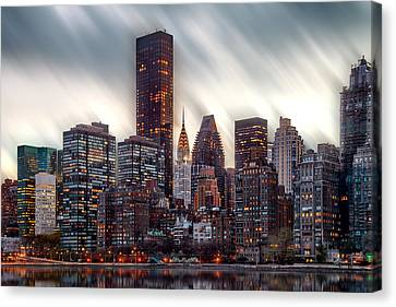 Manhattan Daze Canvas Print by Az Jackson
