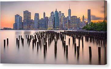Manhattan Dusk Canvas Print